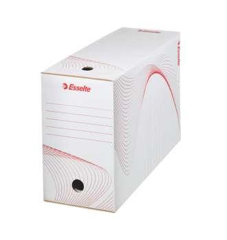 Archivační krabice Esselte - 15 x 24,5 x 33,5 cm, bílá
