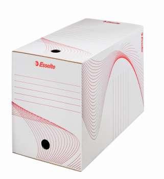 Archivační krabice Esselte - 20 x 24,5 x 33,5 cm, bílá