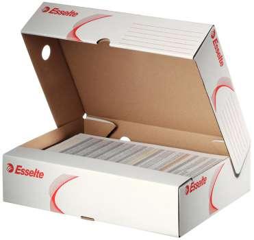 Archivační krabice Esselte - 33,0 x 8,0 x 26,0 cm, horizontální, bílá