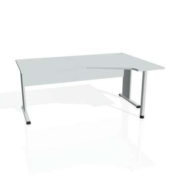 Psací stůl Hobis PROXY PEV 1800 levý, šedá/šedá
