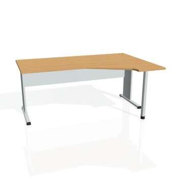 Psací stůl Hobis PROXY PEV 1800 levý, buk/šedá