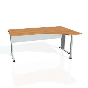 Psací stůl Hobis PROXY PEV 1800 levý, olše/šedá