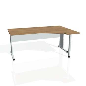 Psací stůl Hobis PROXY PEV 1800 levý, višeň/šedá