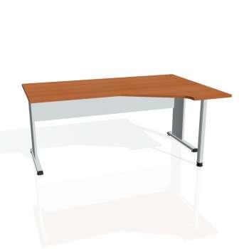 Psací stůl Hobis PROXY PEV 1800 levý, třešeň/šedá
