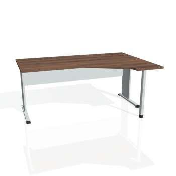 Psací stůl Hobis PROXY PEV 1800 levý, ořech/šedá