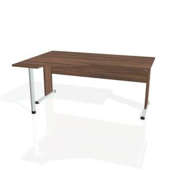 Psací stůl Hobis PROXY PEV 1800 pravý, ořech/ořech