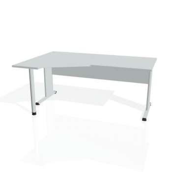 Psací stůl Hobis PROXY PEV 1800 pravý, šedá/šedá