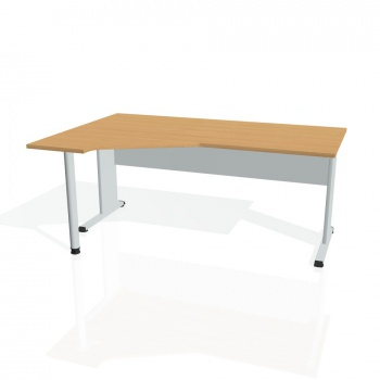 Psací stůl Hobis PROXY PEV 1800 pravý, buk/šedá