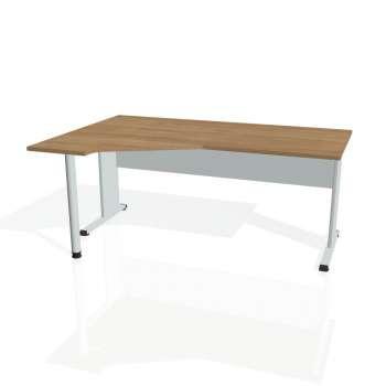 Psací stůl Hobis PROXY PEV 1800 pravý, višeň/šedá