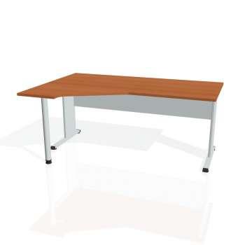 Psací stůl Hobis PROXY PEV 1800 pravý, třešeň/šedá