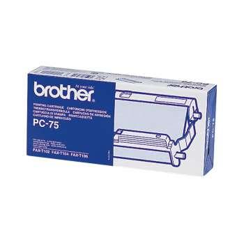 Kazeta s fólií Brother PC-75 - černý