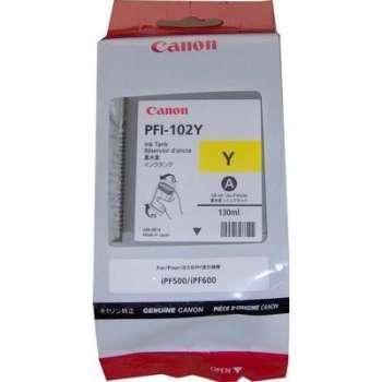 Cartridge Canon PFI102Y - žlutá