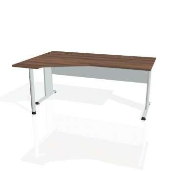 Psací stůl Hobis PROXY PEV 1800 pravý, ořech/šedá