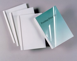 Desky pro termovazbu GBC - 3 mm, imitace kůže, bílé, 100 ks