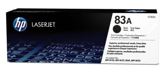 Toner HP CF283A, č. 83A - černý