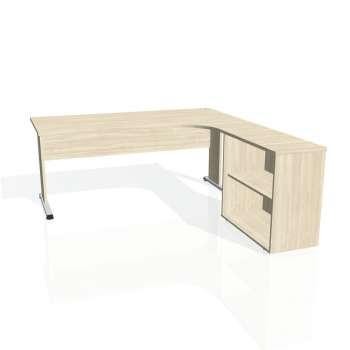 Psací stůl Hobis PROXY PE 1800 H levý, akát/akát