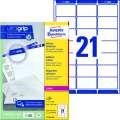 Etikety na zásilky Avery Zweckform - bílé, 63,5 x 38,1 mm, 2100 ks
