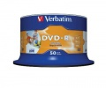 Disky DVD-R Verbatim Printable - potisknutelné, cake box, 50 ks