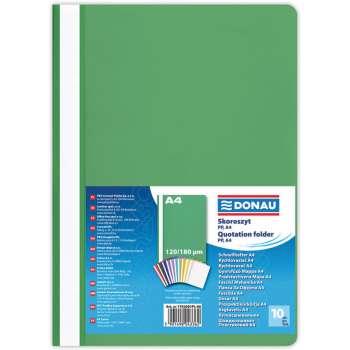 Rychlovazače DONAU A4, zelené, 10 ks