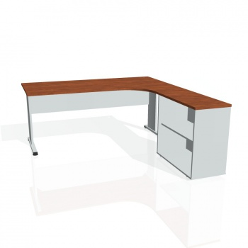 Psací stůl Hobis PROXY PE 1800 H levý, calvados/šedá