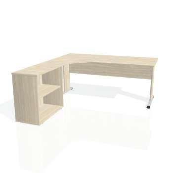 Psací stůl Hobis PROXY PE 1800 H pravý, akát/akát