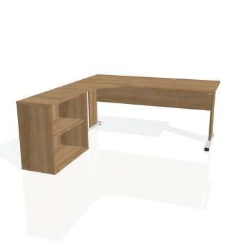 Psací stůl Hobis PROXY PE 1800 H pravý, višeň/višeň