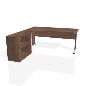 Psací stůl Hobis PROXY PE 1800 H pravý, ořech/ořech