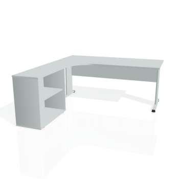 Psací stůl Hobis PROXY PE 1800 H pravý, šedá/šedá