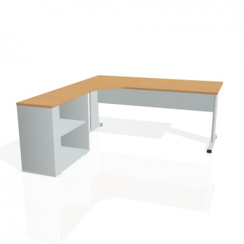 Psací stůl Hobis PROXY PE 1800 H pravý, buk/šedá
