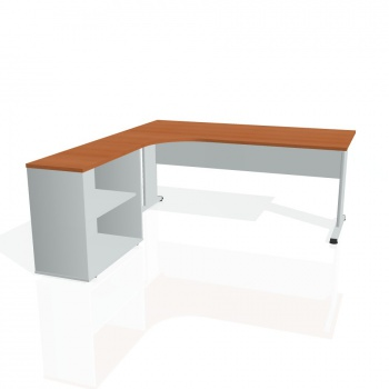 Psací stůl Hobis PROXY PE 1800 H pravý, třešeň/šedá