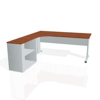 Psací stůl Hobis PROXY PE 1800 H pravý, calvados/šedá