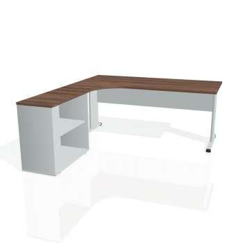 Psací stůl Hobis PROXY PE 1800 H pravý, ořech/šedá
