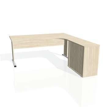 Psací stůl Hobis PROXY PE 1800 HR levý, akát/akát