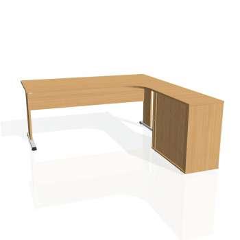 Psací stůl Hobis PROXY PE 1800 HR levý, buk/buk