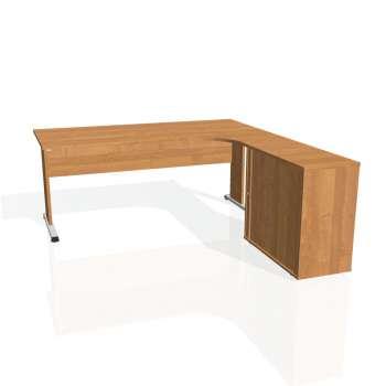 Psací stůl Hobis PROXY PE 1800 HR levý, olše/olše