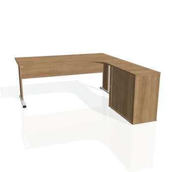 Psací stůl Hobis PROXY PE 1800 HR levý, višeň/višeň