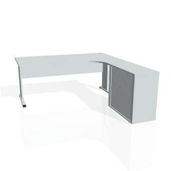 Psací stůl Hobis PROXY PE 1800 HR levý, šedá/šedá