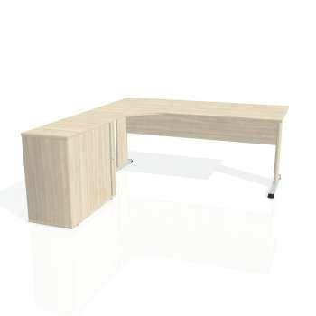 Psací stůl Hobis PROXY PE 1800 HR pravý, akát/akát