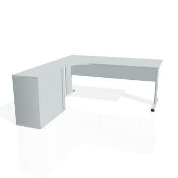 Psací stůl Hobis PROXY PE 1800 HR pravý, šedá/šedá