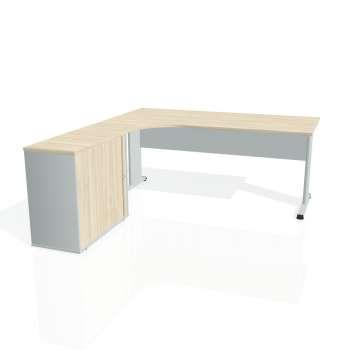 Psací stůl Hobis PROXY PE 1800 HR pravý, akát/šedá