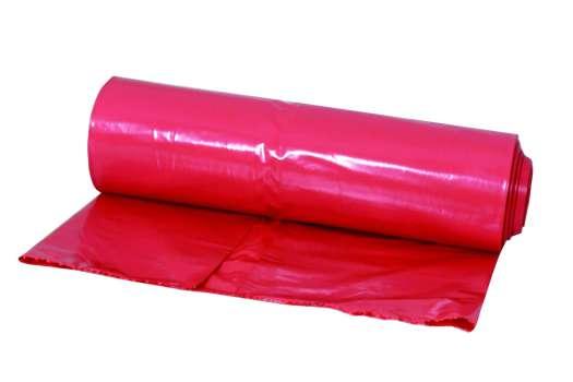 Pytel na odpadky silnostěnný - červená , 110 l, 1 ks, 80 mic