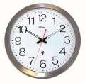 Nástěnné rádiem řízené hodiny Orium - vodotěsné, stříbrné