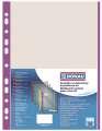 Euroobaly U s barevným okrajem - A4, fialové, krupičkové, 40 mic, 100 ks