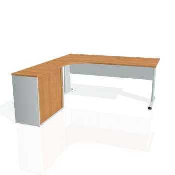 Psací stůl Hobis PROXY PE 1800 HR pravý, olše/šedá
