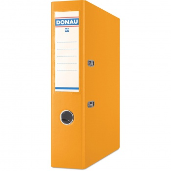 Pákový pořadač Donau - A4, s kapsou, kartonový, hřbet 7,5 cm, oranžová