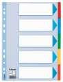 Papírový rozlišovač Esselte - A4, 5 barev