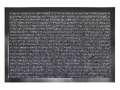 Vnitřní rohož Paros, 90 x 60 cm - černá