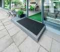 Venkovní rohož Outdoor, 150 x 90 cm - černý melír