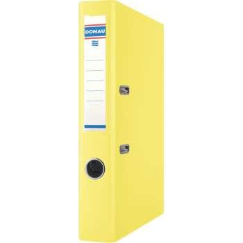 Pákový pořadač Donau - A4, s kapsou, kartonový, hřbet 5 cm, žlutá