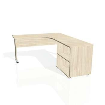 Psací stůl Hobis PROXY PE 60 H levý, akát/akát